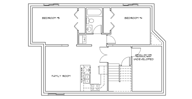 Floor plan for a basement suite in a new home from Pacesetter.png
