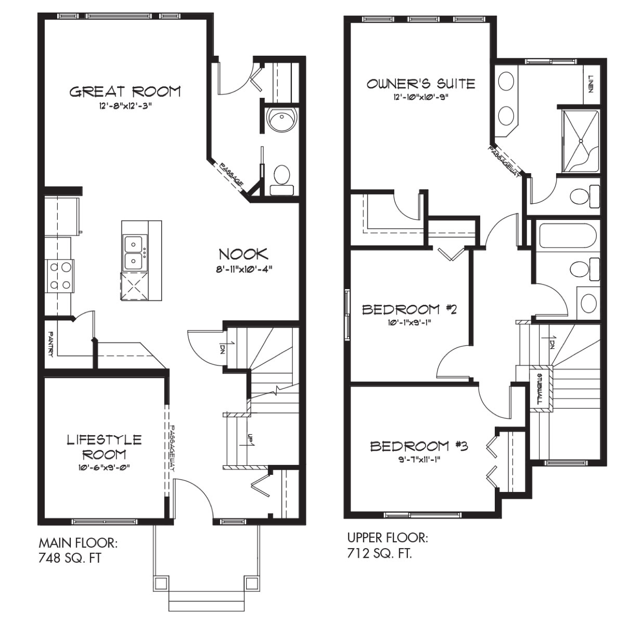 Model feature bristol floor plan image