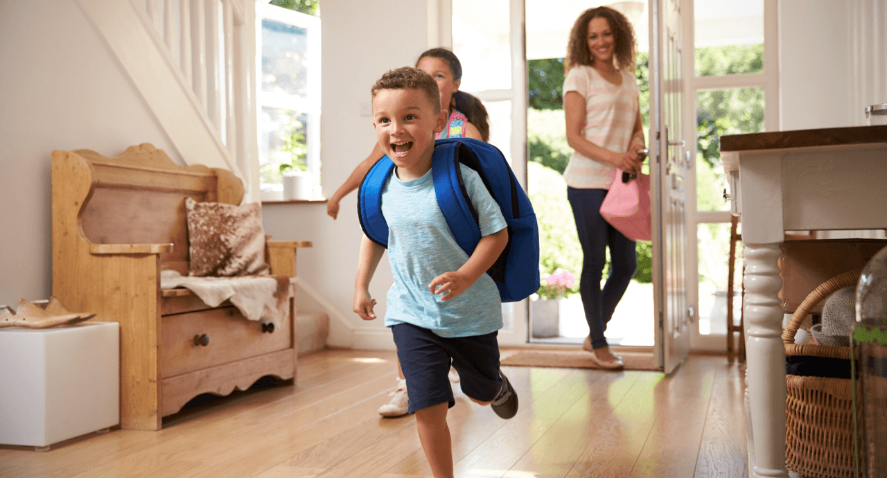 Getting Ready for Back to School Excited kids image