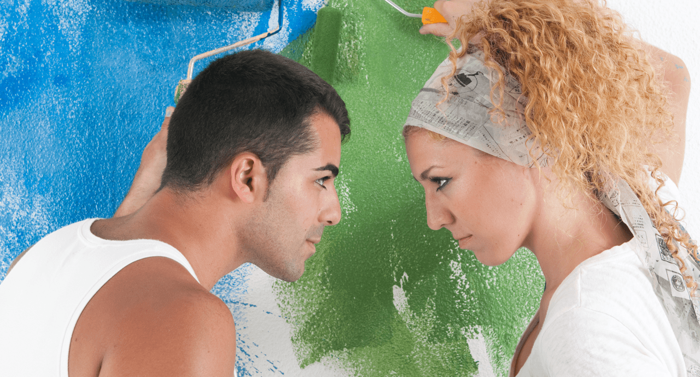 Man Cave vs. Diva Den Couple Painting image