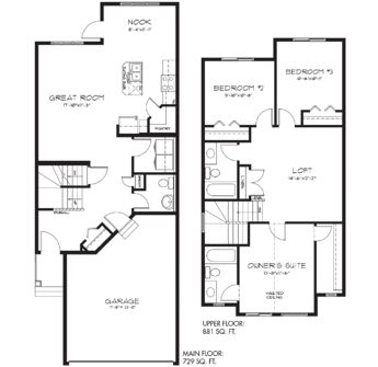 Model Feature: The Sampson floorplan image