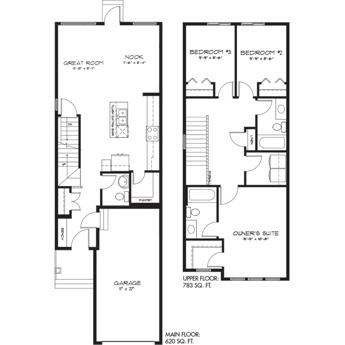 New Townhome Model Churchill Floorplan Image