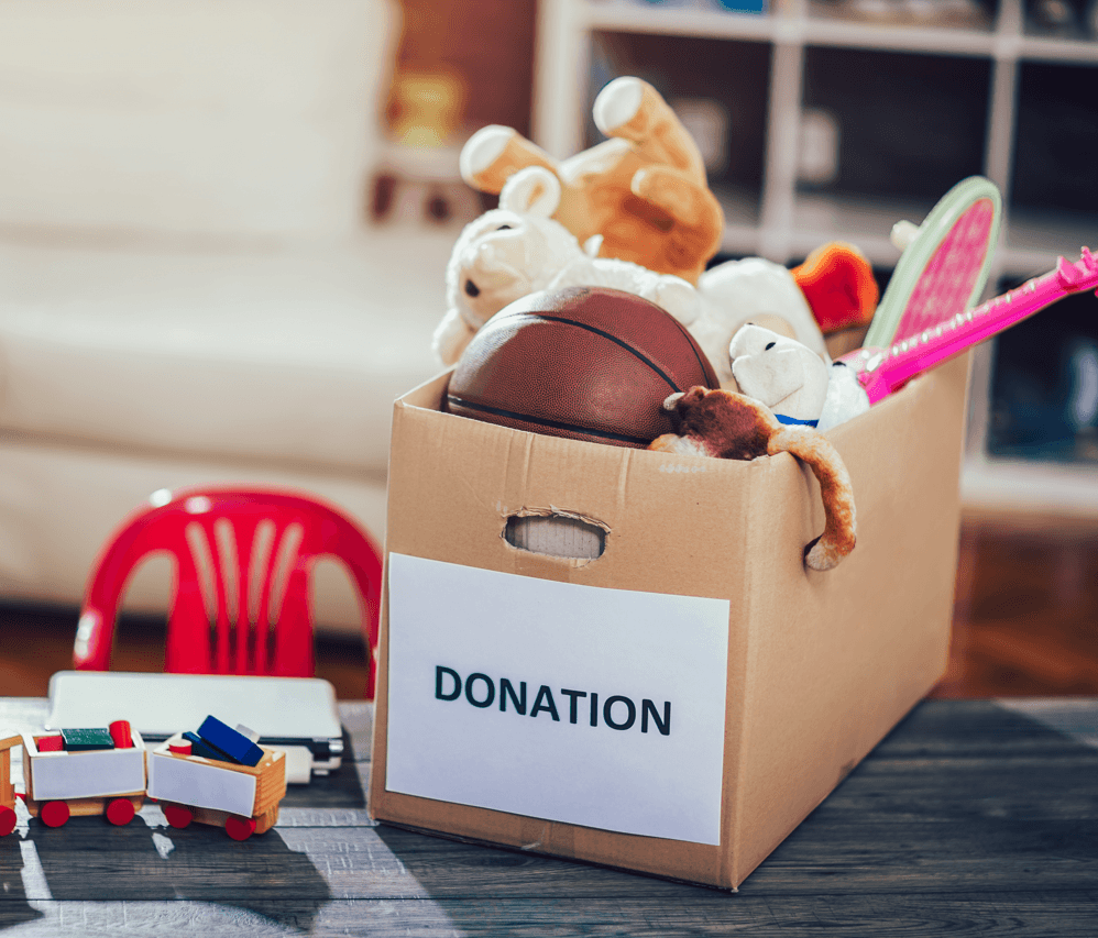 Holiday Gift Overload  How to Organize and Purge Donation Image