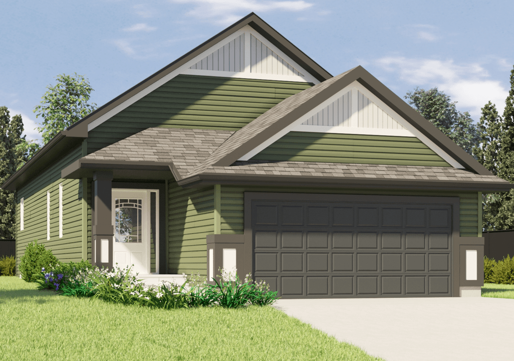 New Front Attached Garage Models Winston Rendering Image