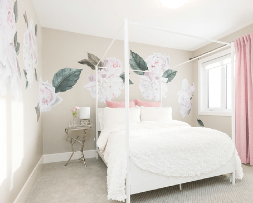 Update Your Home With a Feature Wall Paint Techniques Floral Image