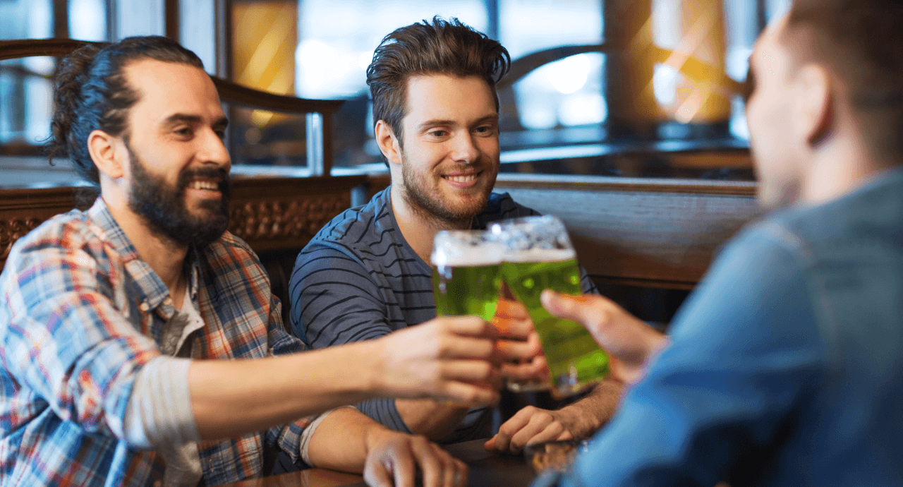 Places to Spend St. Patrick's Day in Edmonton Men Featured Image