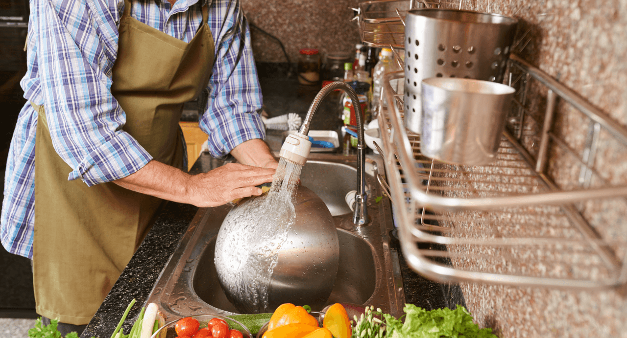 Quick Tips to Save Time in The Kitchen Washing Featured Image