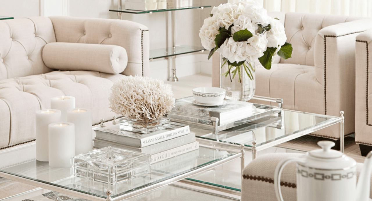 8 Ideas to Style Your Coffee Table or Ottoman Fancy Featured Image