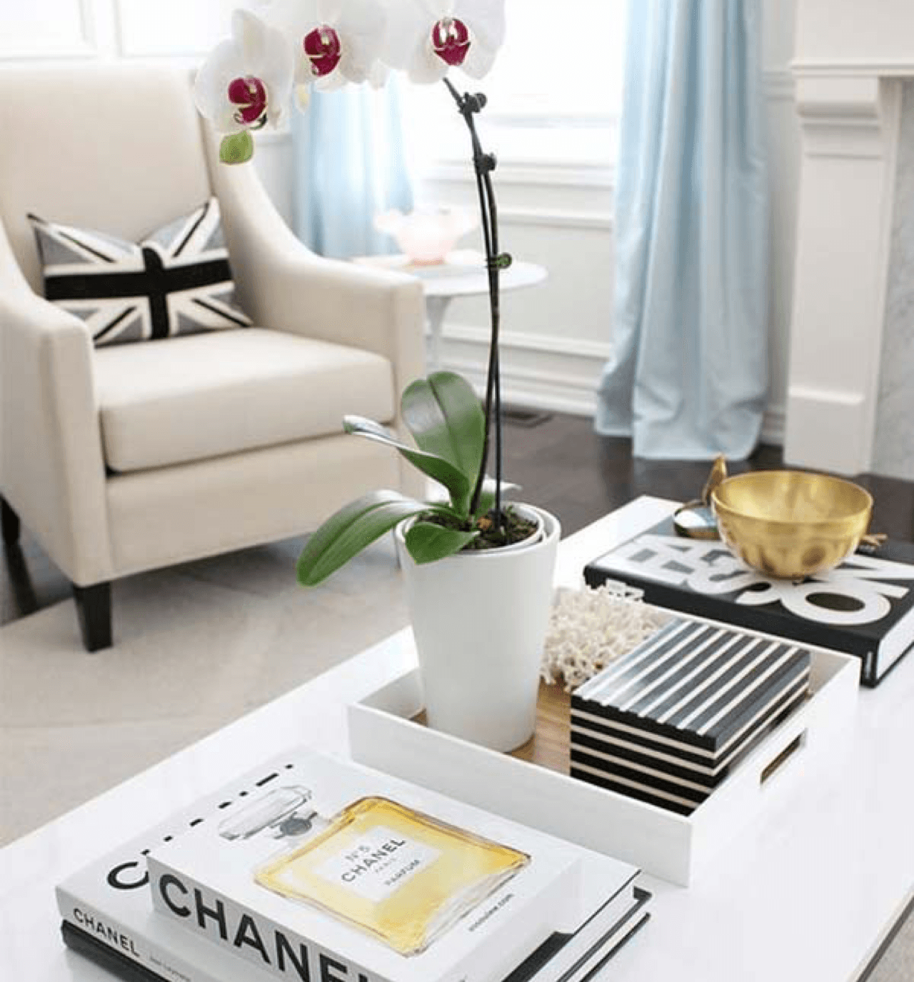 Ideas to Style Your Coffee Table or Ottoman Orchids Image