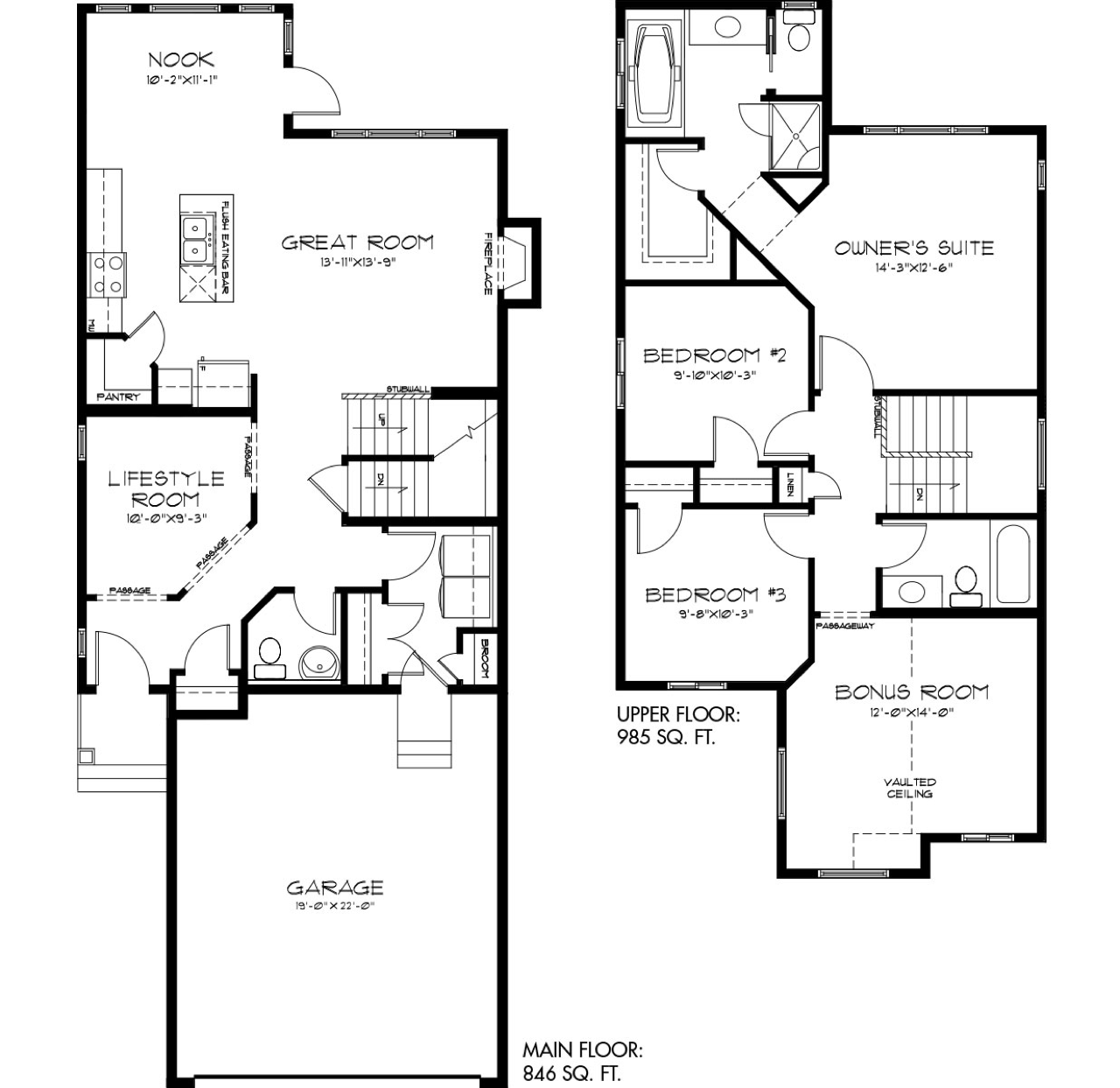 The Latest Quick Possession Homes From Pacesetter! Madeline Floor Plan Image