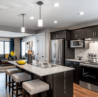 Kitchen Design in the Affirmed new home in McConachie Crossing