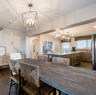 Dining Nook Design in the Carson Model within McConachie Crossing