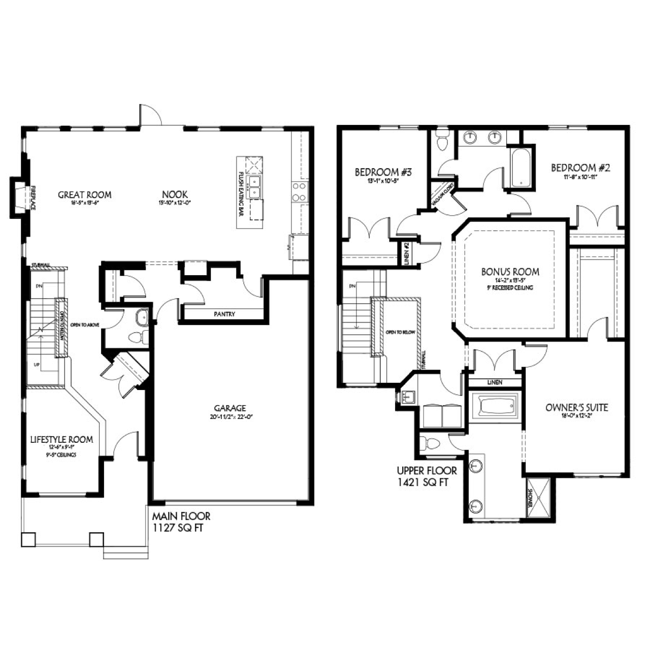 September 18th post - The Latest Quick Possession Homes From Pacesetter Lexington Floorplan Image