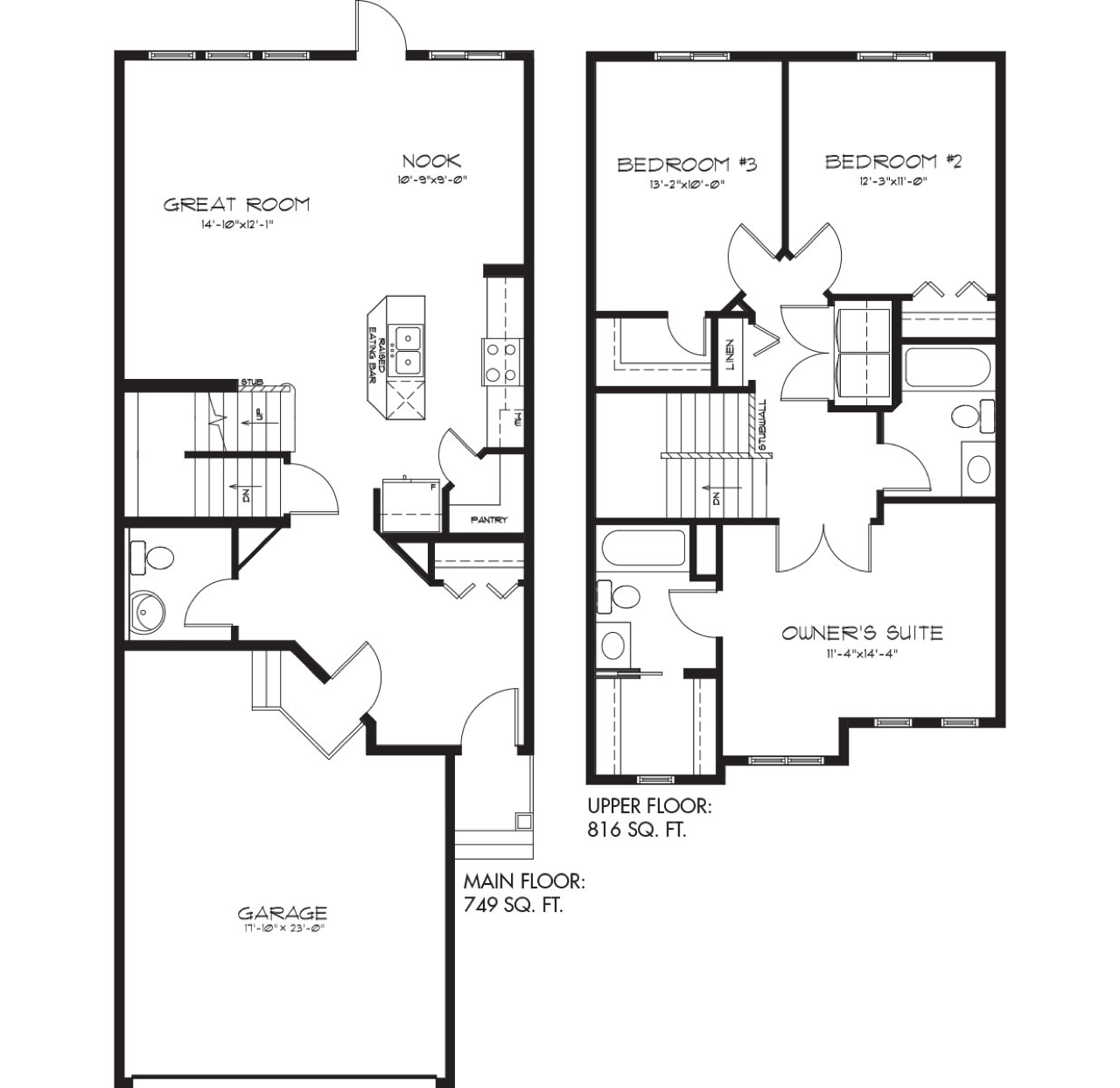 The Latest Quick Possession Homes From Pacesetter! Belmont Floor Plan Image