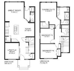 The Latest Quick Possession Homes From Pacesetter! Bristol Floor Plan Image