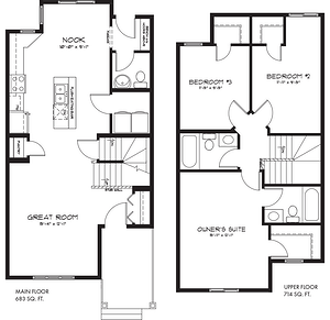 The Latest Quick Possession Homes From Pacesetter! Affirmed Floor Plan Image