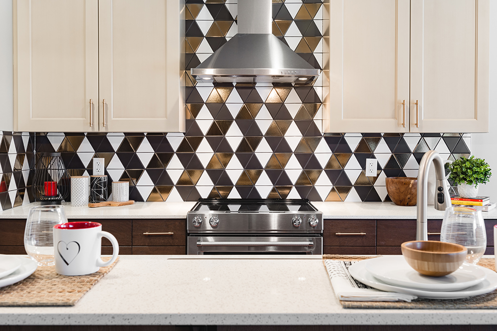 Bold Patterned kitchen backsplash tile