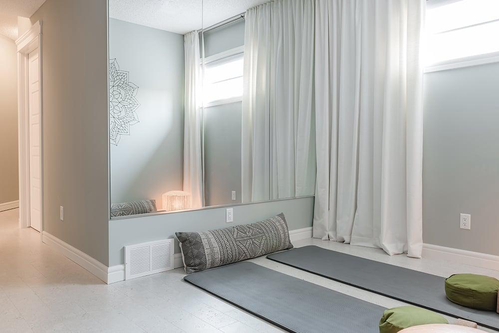 Lazzaro basement yoga area