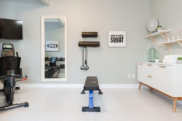 lazzaro basement home gym