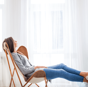 How to Create a Minimalist Home Woman Chair Image