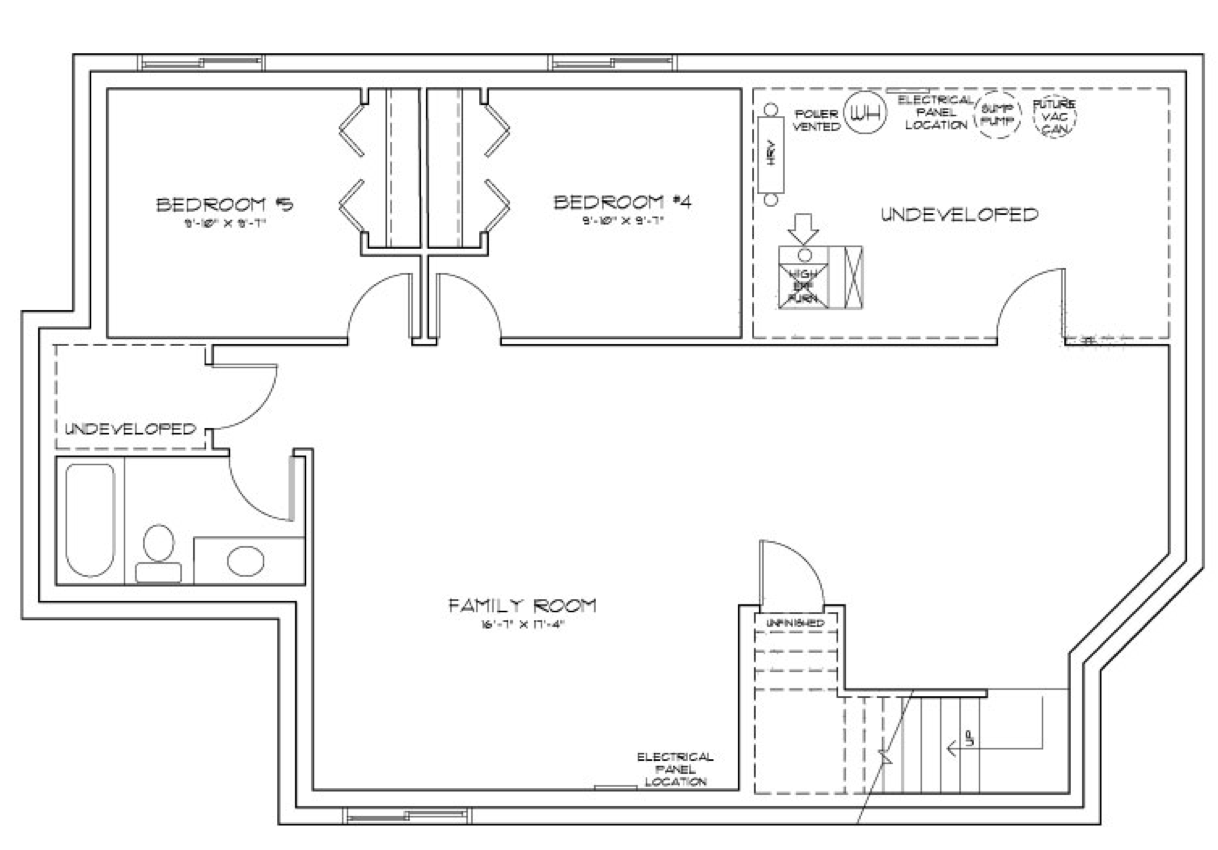 Why It's Worth It to Finish Your Basement Floor Plan Image